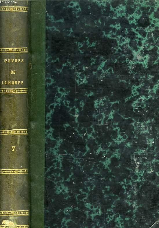 OEUVRES DE LA HARPE, DE L'ACADEMIE FRANCAISE, TOME VII, LES DOUZE CESARS DE SUETONE (2e PARTIE)