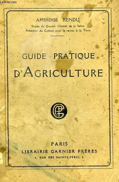 GUIDE PRATIQUE D'AGRICULTURE