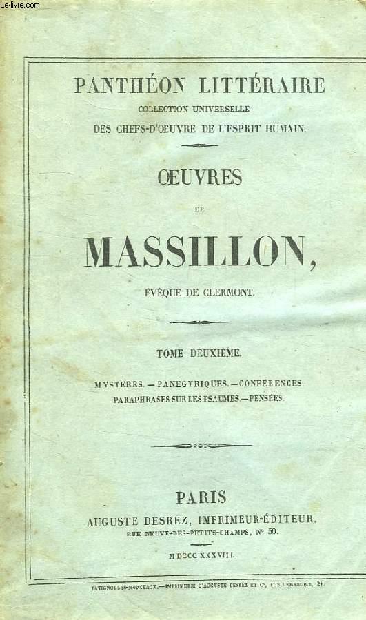 OEUVRES DE MASSILLON, EVEQUE DE CLERMONT, TOME II