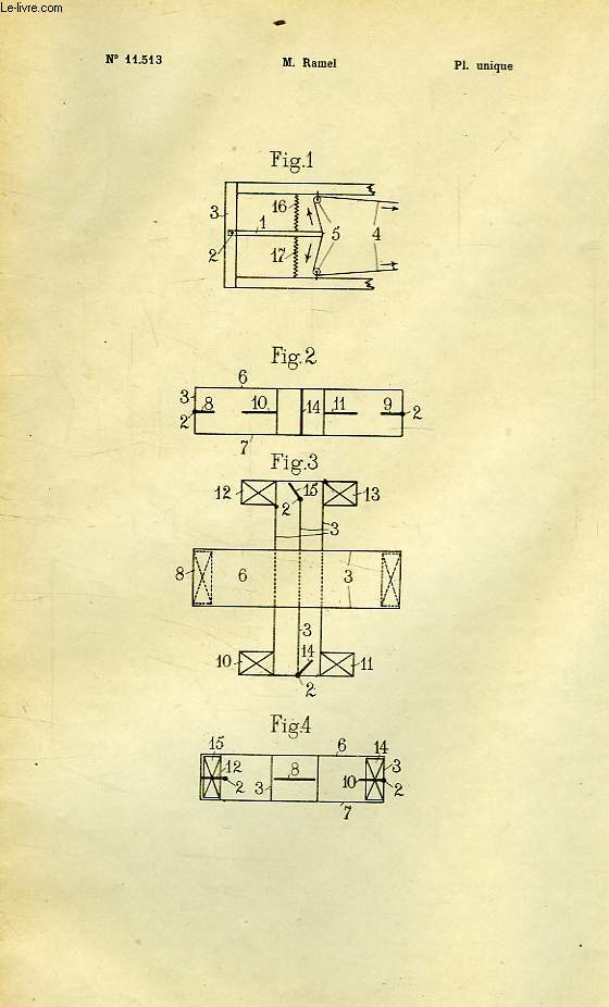VI, MARINE ET NAVIGATION, 4, DISPOSITIF AUTOMATIQUE DE COMMANDE DES PLANS STABILISATEURS ET DES GOUVERNAILS DE PROFONDEUR POUR MACHINES VOLANTES, 1re ADDITION AU BREVET D'INVENTION N° 399.456, OFFICE NATIONAL DE LA PROPRIETE INDUSTRIELLE