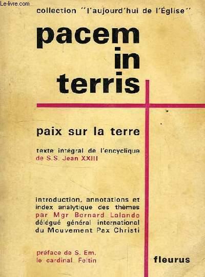 PACEM IN TERRIS, PAIX SUR LA TERRE