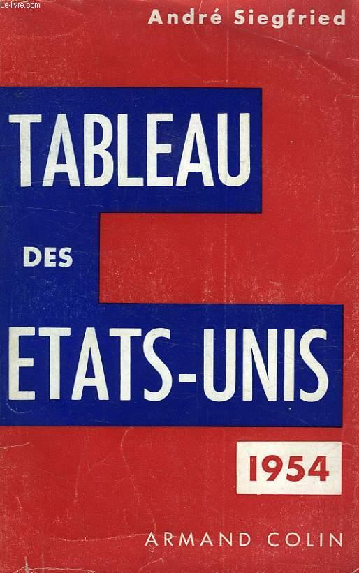 TABLEAU DES ETATS-UNIS