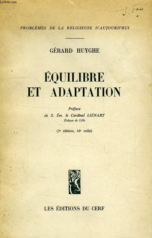 EQUILIBRE ET ADAPTATION