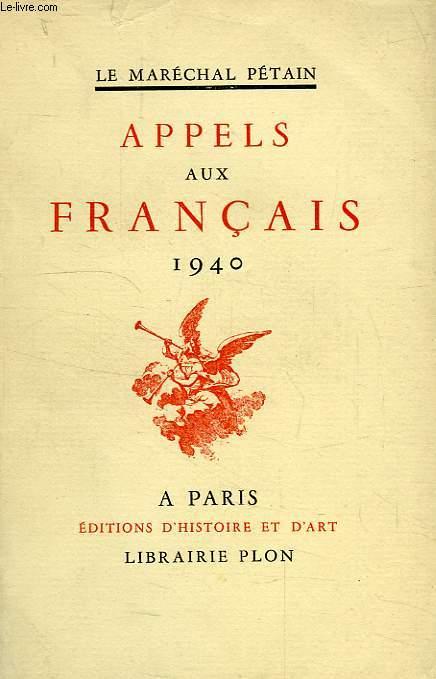 APPELS AUX FRANCAIS, 1940