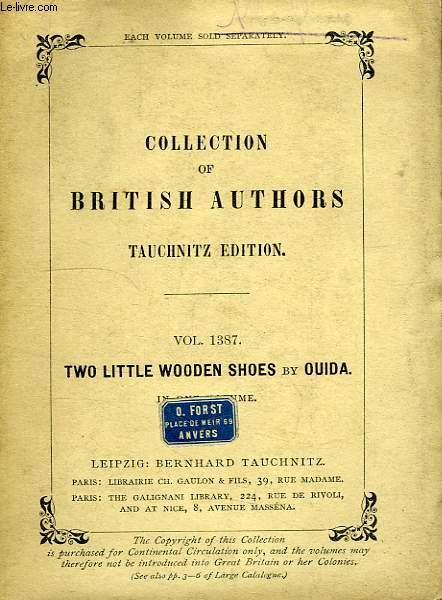 TWO LITTLE WOODEN SHOES (VOL. 1387), IN ONE VOLUME