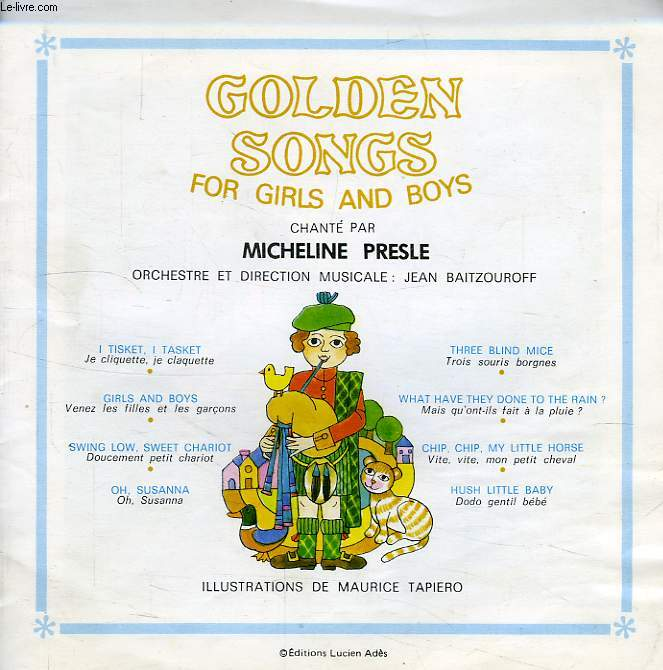 GOLDEN SONGS FOR GIRLS AND BOYS