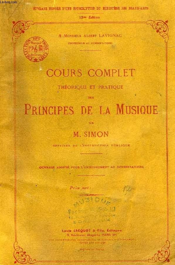 COURS COMPLET THEORIQUE ET PRATIQUE DES PRINCIPES DE LA MUSIQUE