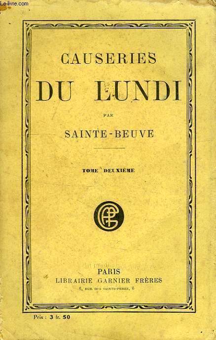 CAUSERIES DU LUNDI, TOME II