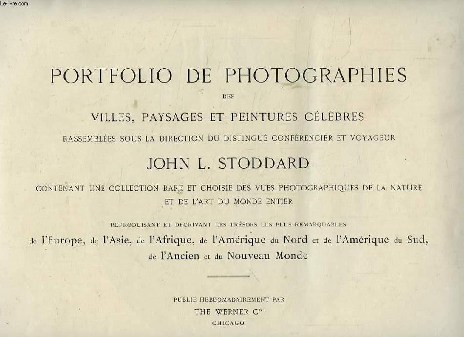 PORTFOLIO DE PHOTOGRAPHIES DES VILLES, PAYSAGES ET PEINTURES CELEBRES