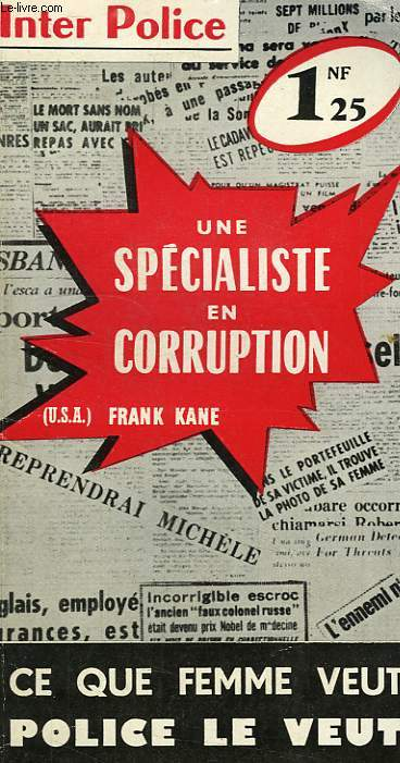 UNE SPECIALISTE EN CORRUPTION