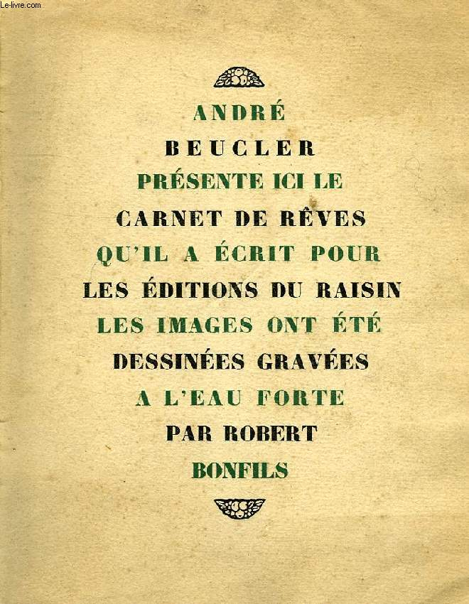 LE CARNET DE REVES