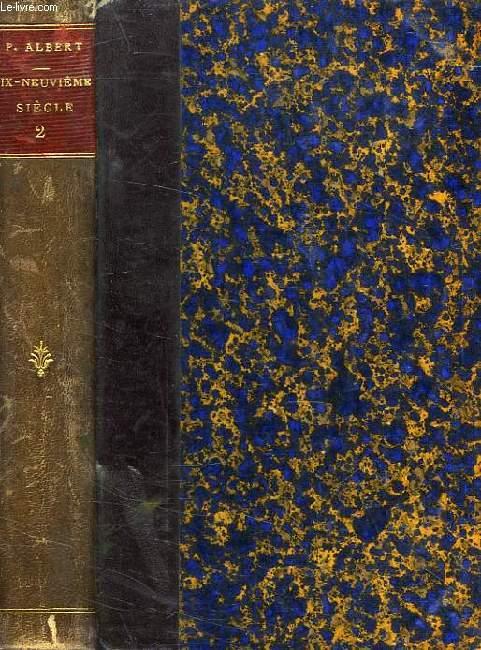 LA LITTERATURE FRANCAISE AU XIXe SIECLE, TOME II