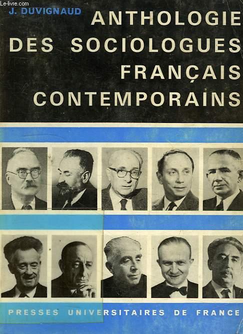 ANTHOLOGIE DES SOCIOLOGUES FRANCAIS CONTEMPORAINS
