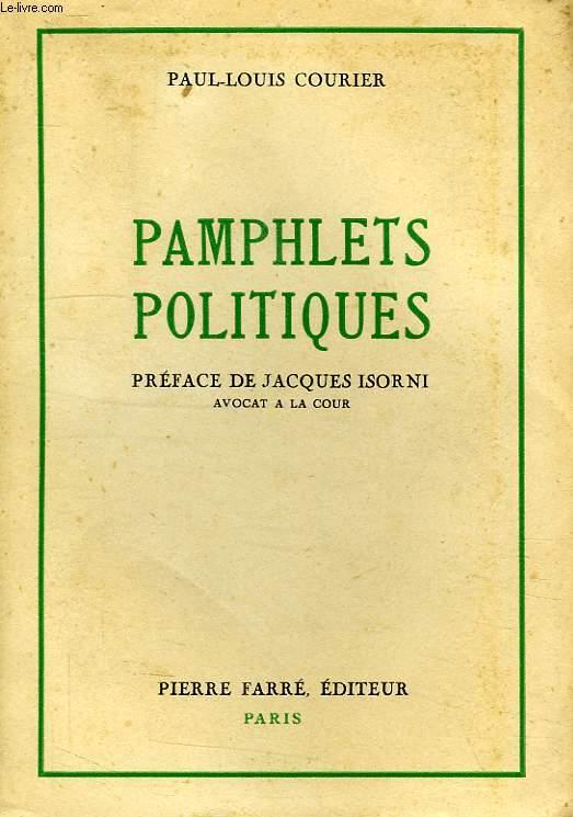 PAMPHLETS POLITIQUES