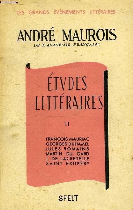 ETUDES LITTERAIRES, TOME II