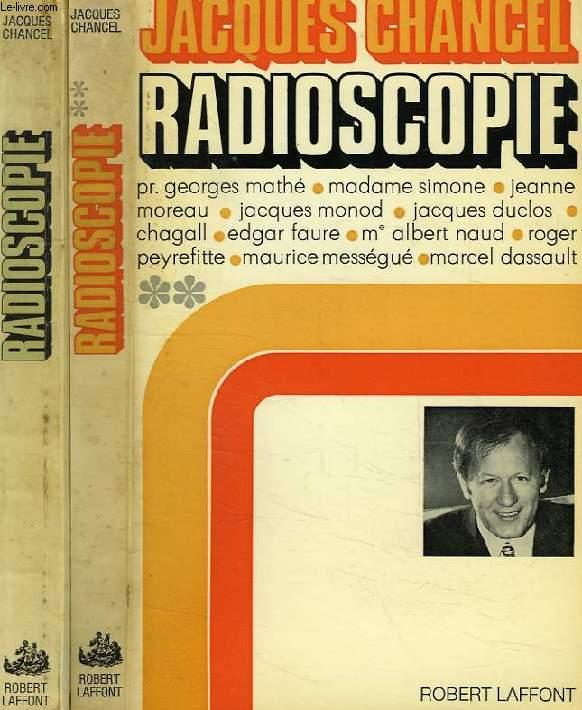 RADIOSCOPIE, TOMES 1 & 2