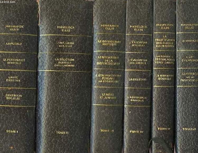 ETUDES DE PSYCHOLOGIE SEXUELLE, IX TOMES (INCOMPLET)
