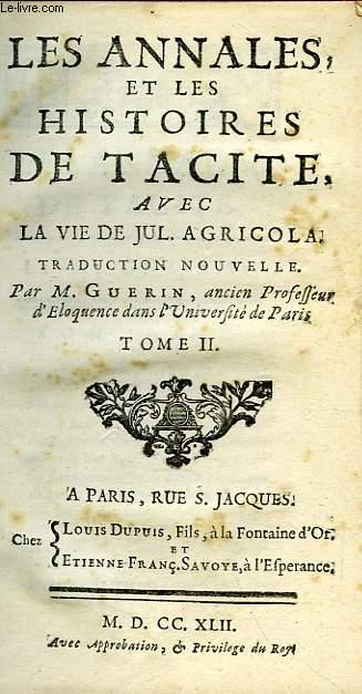Livres I, II des Histoires (Éd.1887) - Tacite