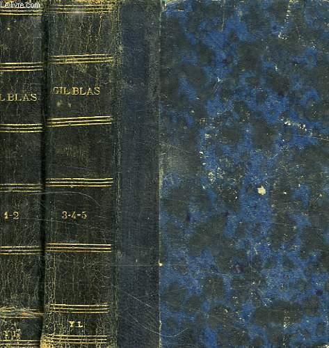 HISTOIRE DE GIL BLAS DE SANTILLANE, 2 VOLUMES (TOMES 1 à 5)