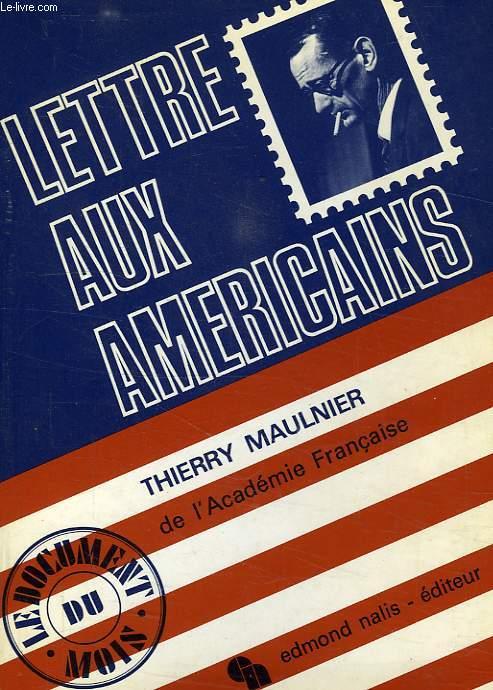 LETTRE AUX AMERICAINS