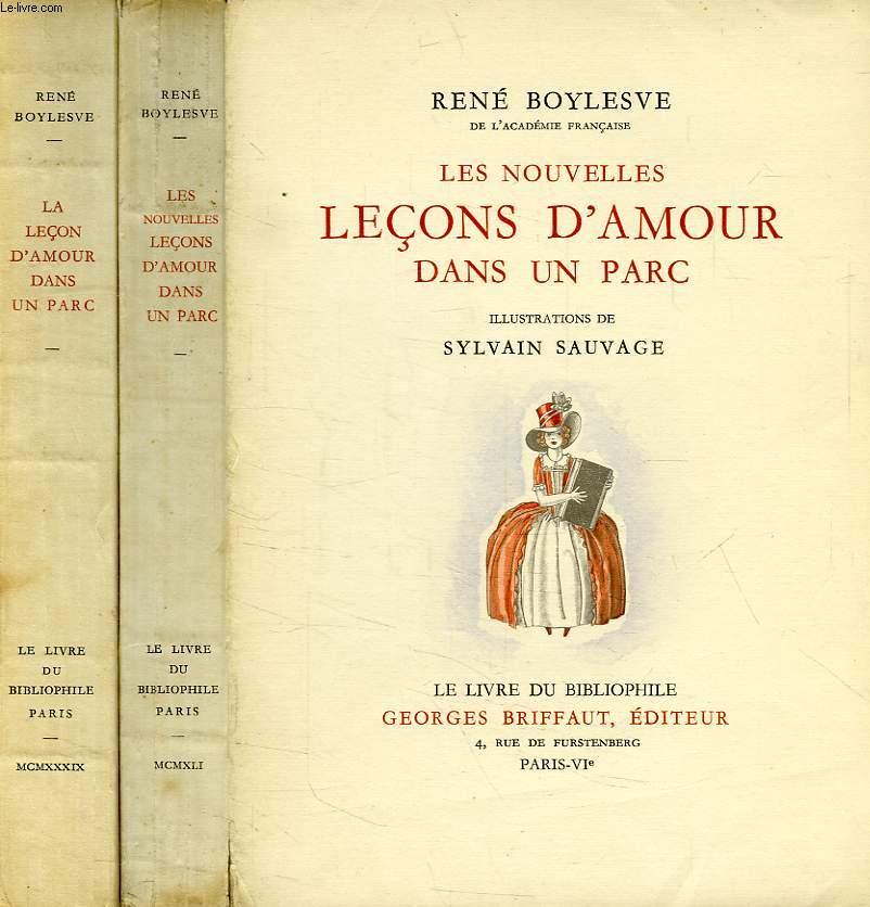 LA LECON D'AMOUR DANS UN PARC, ET LES NOUVELLES LECONS D'AMOUR DANS UN PARC (2 VOLUMES)