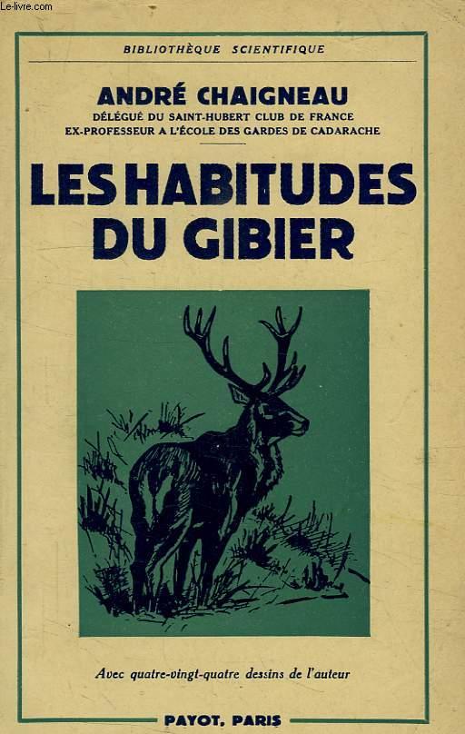 LES HABITUDES DU GIBIER