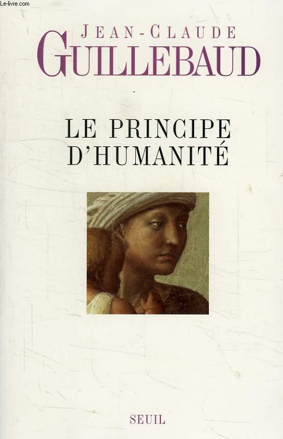 LE PRINCIPE D'HUMANITE