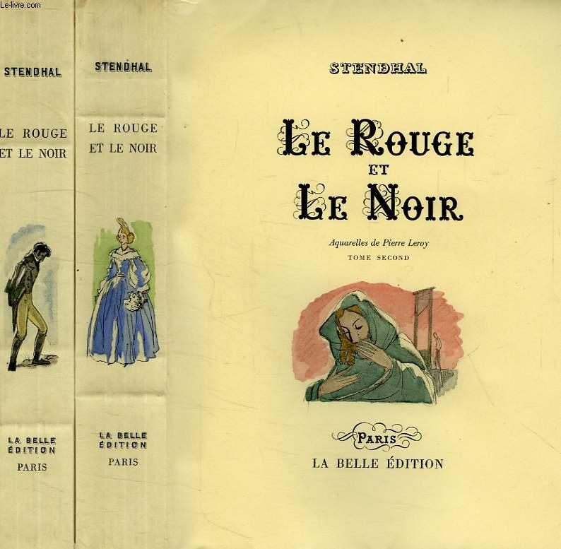 LE ROUGE ET LE NOIR, 2 TOMES