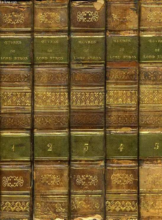 OEUVRES DE LORD BYRON, 8 TOMES (COMPLET)