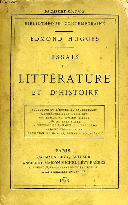 ESSAIS DE LITTERATURE ET D'HISTOIRE