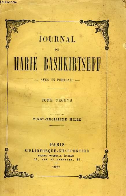 JOURNAL DE MARIE BASHKIRTSEFF, 2 TOMES