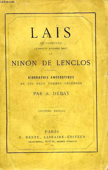 LAIS DE CORINTHE ET NINON DE LENCLOS