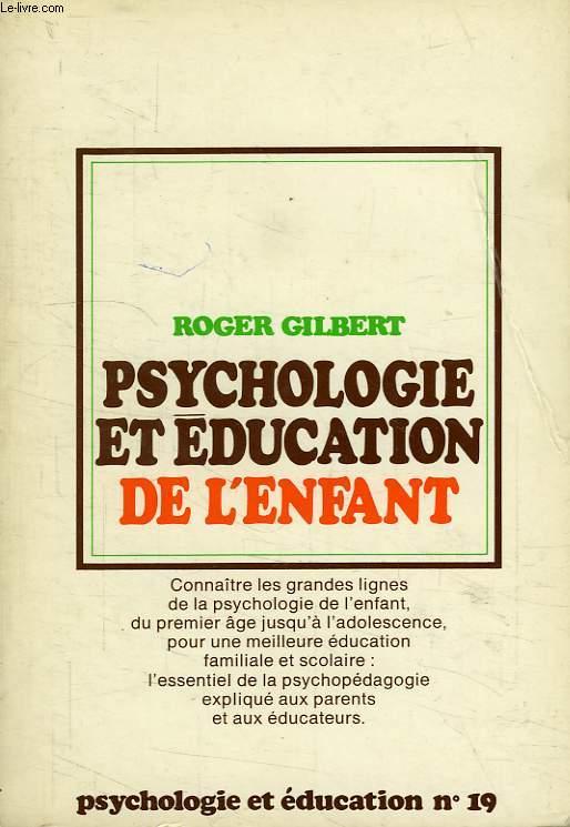 PSYCHOLOGIE ET EDUCATION DE L'ENFANT