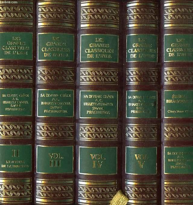 Les grands classiques de l inde 5 volumes bhaktivedanta for Vol interieur inde