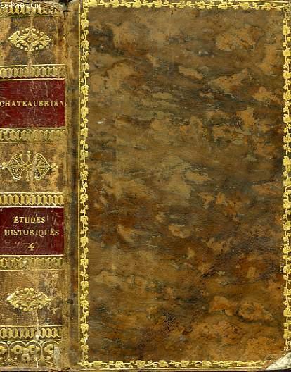 ETUDES OU DISCOURS HISTORIQUES SUR LA CHUTE DE L'EMPIRE ROMAIN, TOME IV