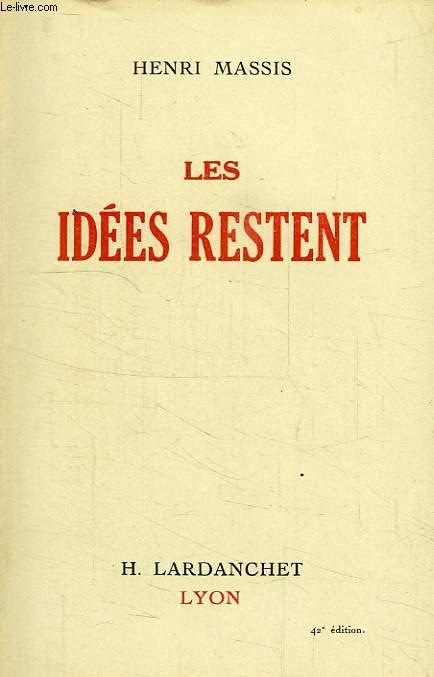 LES IDEES RESTENT