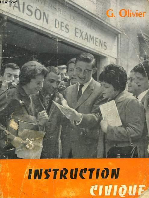 INSTRUCTION CIVIQUE, CLASSE DE 3e