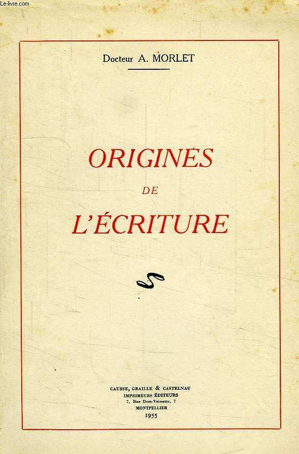 ORIGINES DE L'ECRITURE