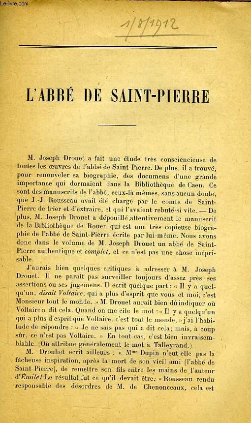 L'ABBE DE SAINT-PIERRE