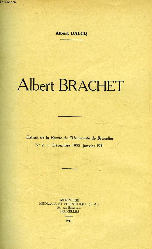 ALBERT BRACHET