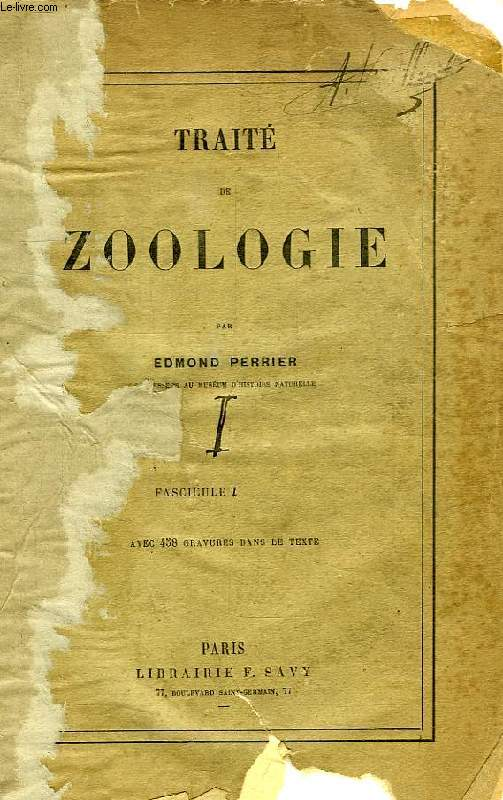 TRAITE DE ZOOLOGIE, FASCICULE I