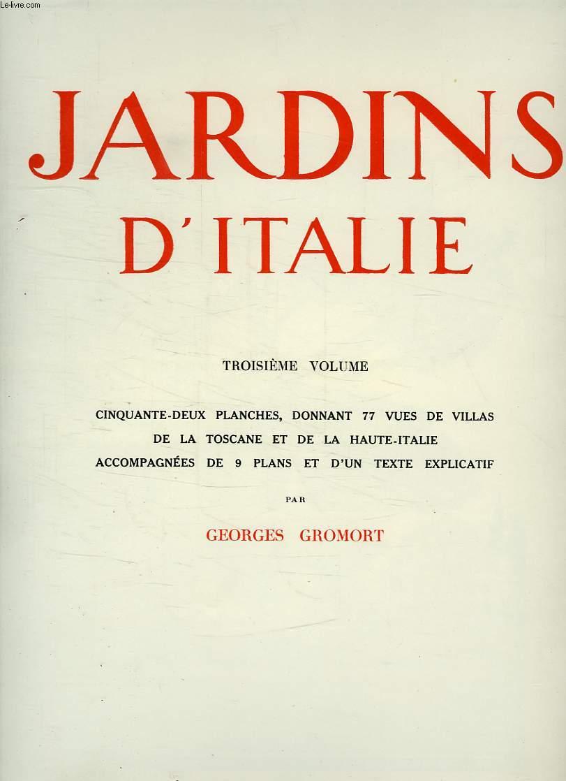Jardins d italie 3e volume gromort georges for Jardin d italie chateauroux