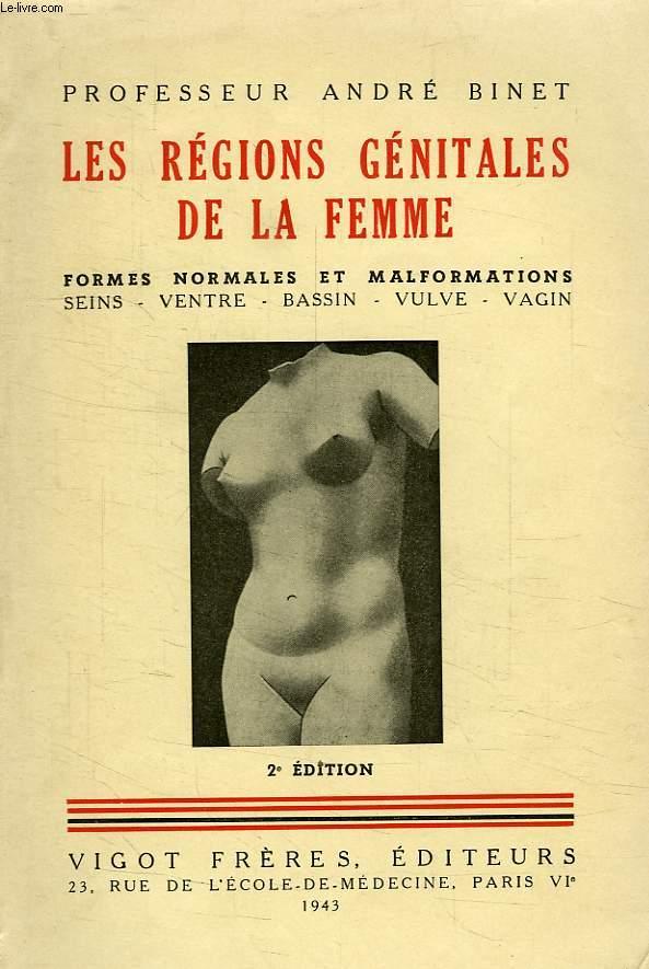 LES REGIONS GENITALES DE LA FEMME, SEINS, VENTRE, BASSIN, VULVE, VAGIN, FORMES NORMALES ET MALFORMATIONS