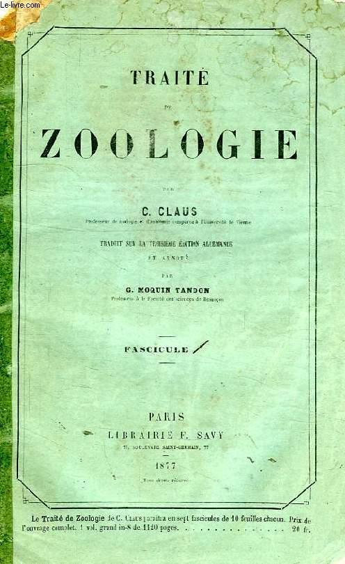 TRAITE DE ZOOLOGIE, FASCICULE 1