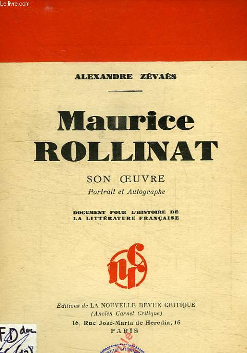 MAURICE ROLLINAT, SON OEUVRE