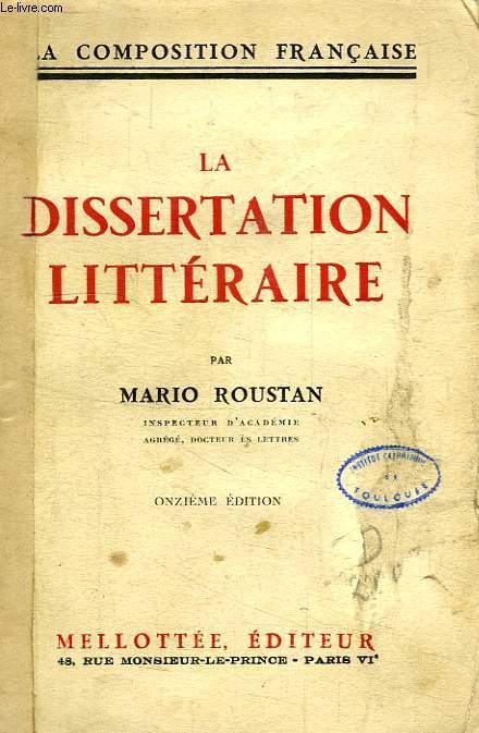 LA DISSERTATION LITTERAIRE