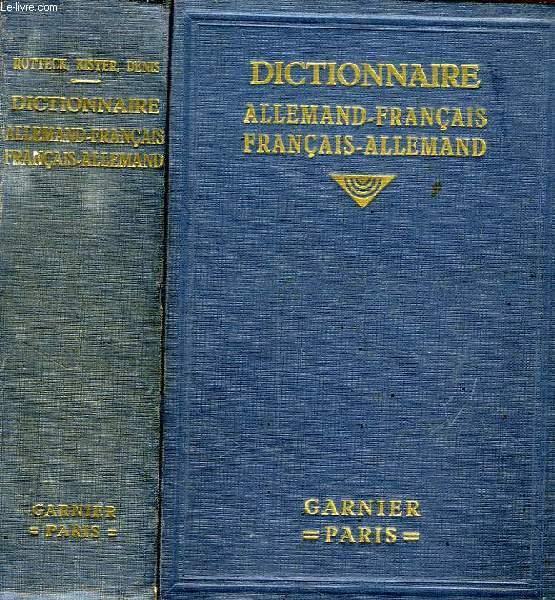 DEUTSCH-FRANZOSISCHES UND FRANZOSISCH-DEUTSCHES WORTERBUCH