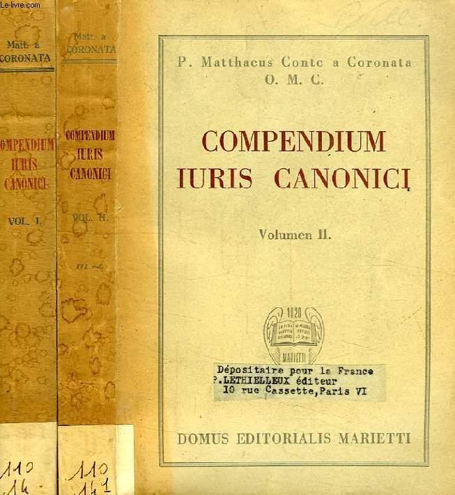 COMPENDIUM IURIS CANONICI, VOL. I-II