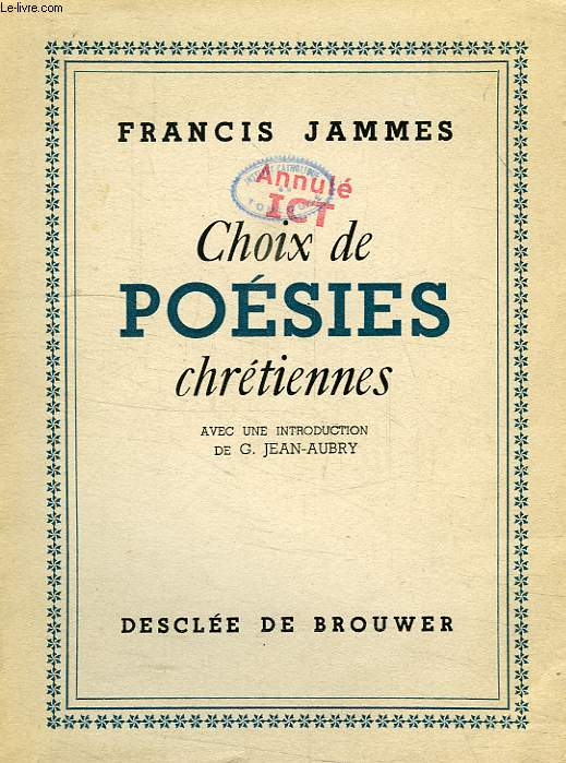 CHOIX DE POESIES CHRETIENNES