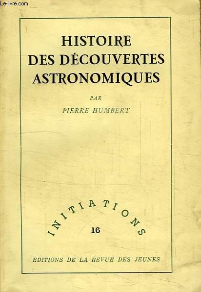 HISTOIRE DES DECOUVERTES ASTRONOMIQUES